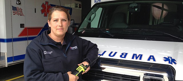Christy Johnson, Edwardsville EMS paramedic.