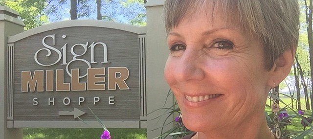 Kim Miller-Tallman, owner of Miller Sign Shoppe just outside of Linwood. Miller Sign Shoppe is the Basehor Chamber of Commerce's Business of the Month for June.