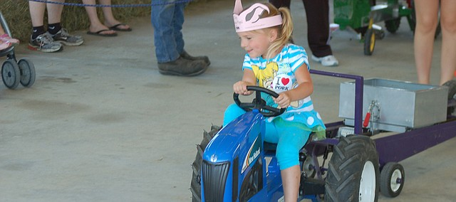 The Kiddie Pedal Pull is the popular long-standing event at Tractor Daze at the National Agricultural Center and Hall of Fame.