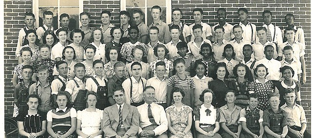 Edwardsville High School students from the late 1920s or early 1930s are show in this photo submitted to the city for the upcoming 100 Year Celebration.