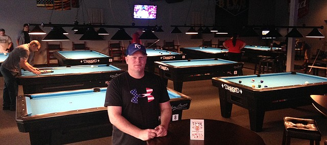 Kyle Hampton, owner of Stars and Stripes Billiards in Basehor, said he has dreamed of owning his own business since he first started playing pool at 14.