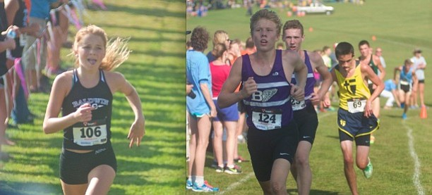 Baldwin High School cross country teams with open the season today at Anderson County led by seniors Abby Dick, left, and George Letner (out front right) and Dakota Helm, all of whom won medals at last year's state meet.