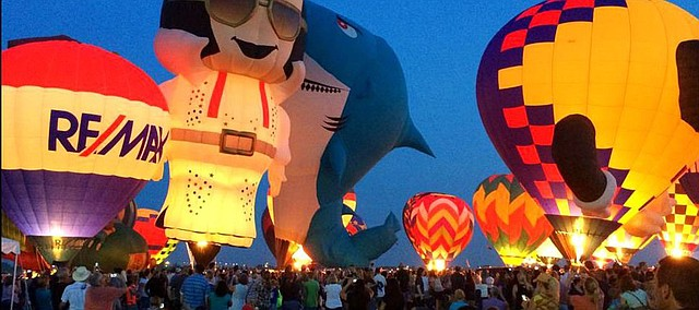 Michael Fraddich took this photo of the Balloon Glow at the Great Midwest Balloon Fest. This year's event will move to the National Agricultural Center and Hall of Fame in Bonner Springs.
