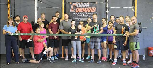 Cobra Command CrossFit had its ribbon cutting with the Basehor Chamber of Commerce on Friday.