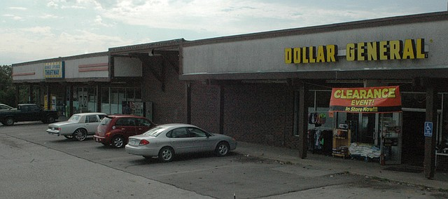 The Dollar General in downtown Bonner Springs, which is rumored to be closing along with its neighbor, Thriftway, advertises a clearance sale on Tuesday.