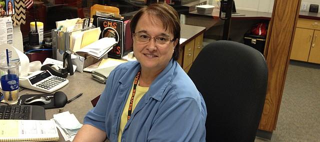 Ellen Kalousek, office manager/bookkeeper at Clark Middle School.