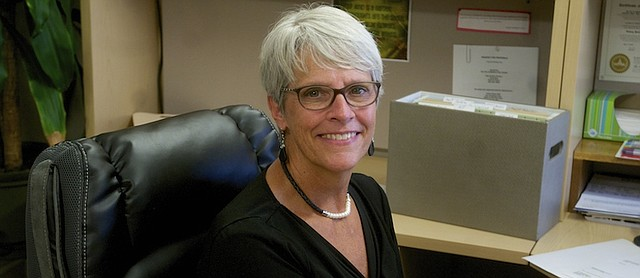 Laura Hartman has traded her desk at the Baldwin USD 348 district office for that as Baldwin City Clerk.