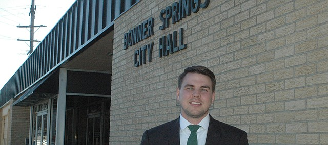 Sean Pederson stepped into his role as Bonner Springs city manager Oct. 27. He notes this was the same day the Royals won the first game of the World Series, so he hopes that is a good sign for his tenure in Bonner Springs.