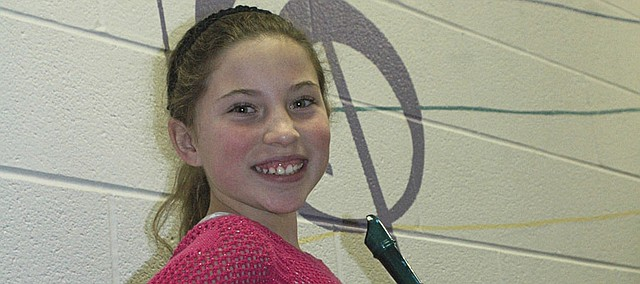 Jaycee Millison, Edwardsville Elementary School fifth-grader, wrote a composition for a recorder that was selected as the winner out of hundreds of entries in the Kansas City Symphony's Composition Challenge.