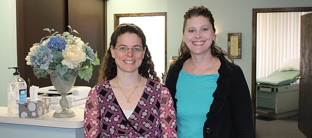 Doctors Terese Bauer (left) and Angelique Pritchett opened a new practice earlier this month in Shawnee.