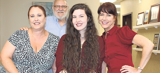 """Family members Trudy Hurley, Forrest """"Frosty"""" White, Lauryn Hurley and Stasha Case all are part of the cast of Theatre in the Park's production of """"The Drowsy Chaperone,"""" opening this weekend."""