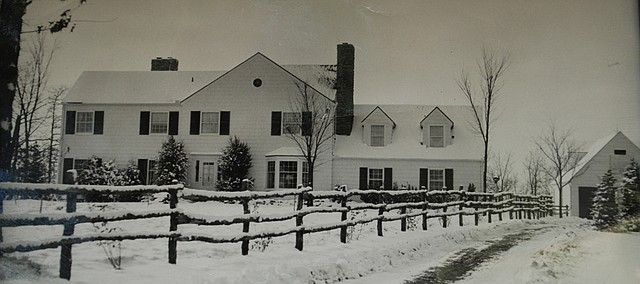 This photo shows the Mack home on Oakridge Farm when it was relatively new in the 1940s. The park district purchased the property in the 1980s and recently decided to raze the house.