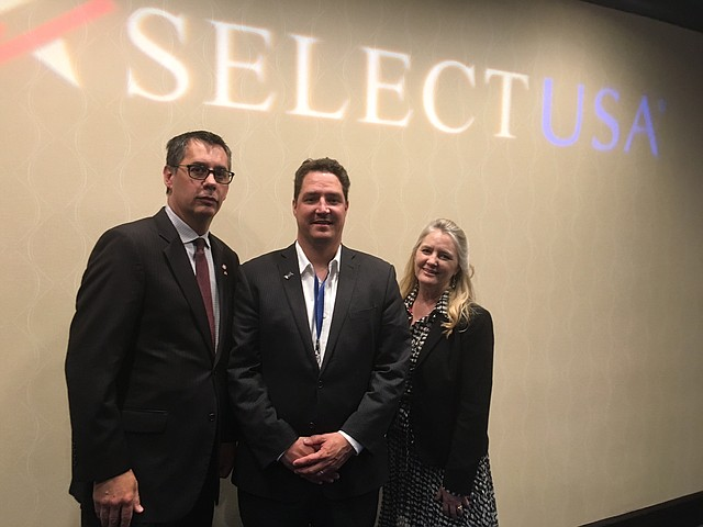 Chris Gutierrez, President, Kansas City SmartPort; Andrew Nave, Executive Director, Shawnee Economic Development Council; and Randi Tveitaraas-Jack, International Development Manager, Kansas Department of Commerce recently attended the SelectUSA summit in Washington D.C.