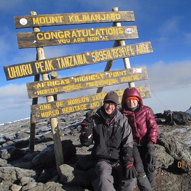 Judy Gerling and her son, Mark, hiked up Mount Kilimanjaro in Africa this summer.
