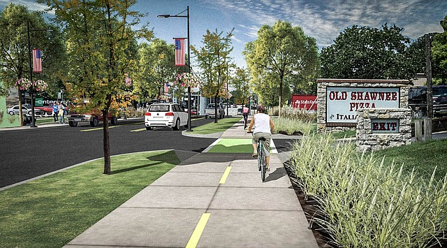 Consultants stated in their report that turning Nieman Road into a three-lane corridor with a multi-use side-path is the best option for downtown Shawnee.
