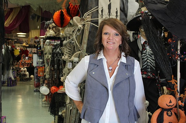 Michelle Hoffine, of Olathe, is the owner of Twisted Halloween in Shawnee.