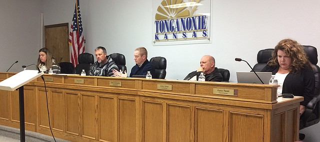 Tonganoxie City Council meeting, Jan. 3, 2017.