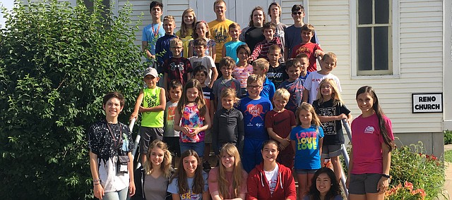 Tonganoxie high and elementary school students come together for Space Camp last month at the Tongaonxie Community Historic Site campus.