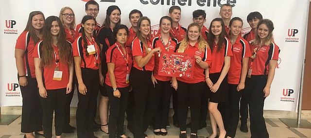 Tonganoxie High FCCLA members at the National Leadership Conference on July 2-6 in Nashville, Tenn.