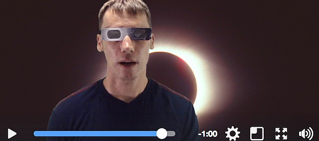 Tonganoxie High School teacher Matt Beat discusses eclipses during his latest YouTube video.