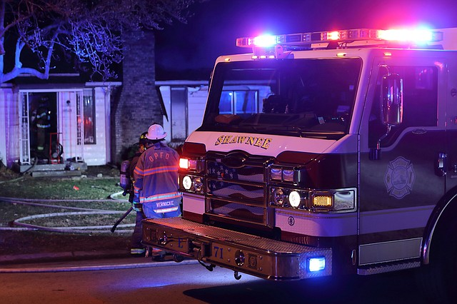 Firefighters from the Shawnee and Overland Park Fire Departments were called to a house in the 10500 block of West 57th Terrace in the early morning hours of Saturday, December 23.