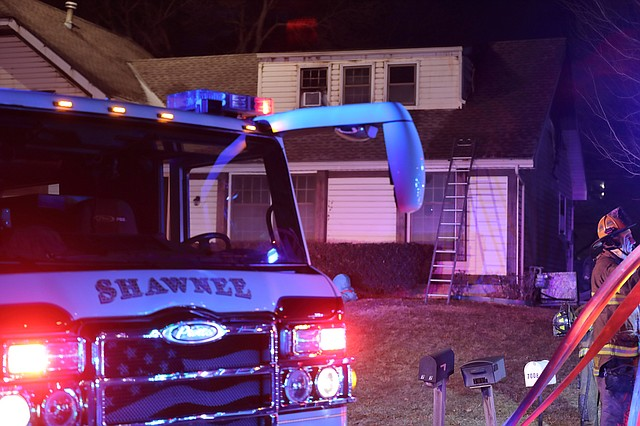 Firefighters from Shawnee and Lenexa responded on a house fire at 7012 Widmer Street shortly before 5 p.m. on Saturday.