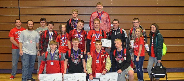 Tonganoxie High placed second at the Baldwin Invitational Jan. 27, 2018, in Baldwin.