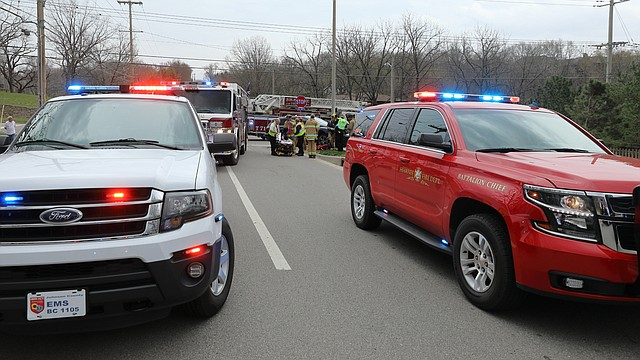 Shawnee Police, Fire, and Johnson County Med-Act all responded on an injury crash at 71st Street and Pflumm Road early Friday evening.