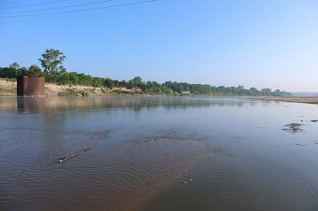 File image along a sandbar at Shawnee's Riverfront Park looking northeast into Bonner Springs.