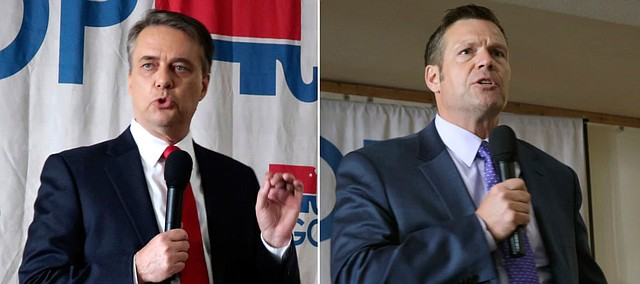 Jeff Colyer and Kris Kobach