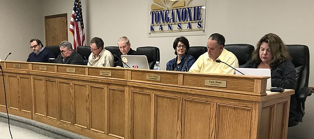 Tonganoxie City Council at a regular meeting in 2018.