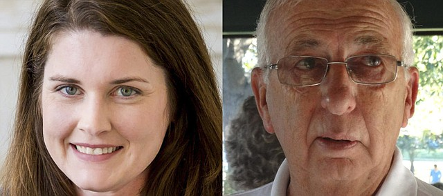 Democratic challenger Thea Perry, left, faces Republican incumbent Jim Karleskint in the general election Nov. 6.