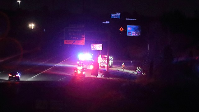 Shawnee Police, Fire, and Johnson County Med-Act responded to a one-car crash on southbound Interstate 435 just north of Shawnee Mission Parkway around 3 a.m. Sunday.