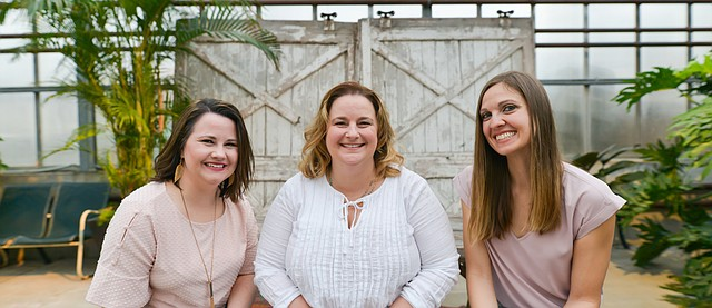 Amanda Starcher, Joanna Eibes and Breanna Holthaus are local Realtors who can be seen in downtown Tonganoxie. They just opened White Birch Agency, Realty Executives of KC, on Monday at 520 E. Fourth St. The former Mirror office has been refurbished with a new look outside and inside.
