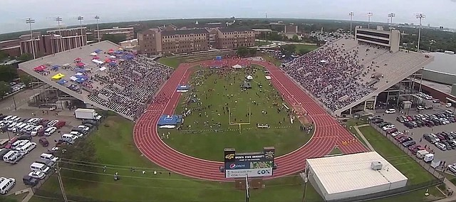 Cessna Stadium on the Wichita State University is the home of the Kansas State High School Track and Field Championships. All classes have competed in state competition at the stadium for many years.