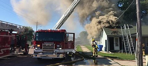 A Thursday fire displaced residents in a one-story Tonganoxie apartment. The Tonganoxie City Fire Department responded to smoke in the structure just before 5 p.m. Thursday at at 102 E. Second St. Upon arrival, firefighters found heavy smoke from the attic area of the fourplex.