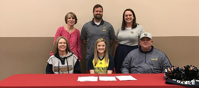 Anna Soettaert will continue her athletics career up the road in Leavenworth. The May Tonganoxie High School graduate signed a National Letter of Intent to compete in soccer at University of Saint Mary, as well as the USM dance team. THS coach Justin Seever also coaches women's soccer at USM.
