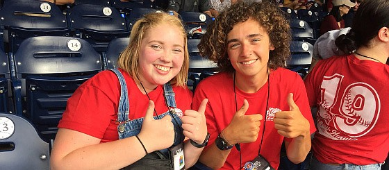 Tonganoxie High students Payton Lynn and Jake Edholm enjoy a Washington Nationals game during the Cooperative Youth Tour. Lynn and Edholm, who just started their senior years at THS, represented FreeState Electric Cooperative  in June in Washington, D.C.