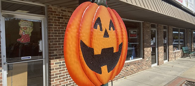 This pumpkin is one of many pieces of decoration along Fourth Street. Spooktacular is Friday in the downtown area.