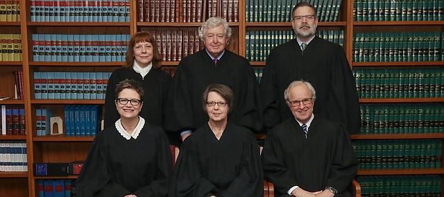 Kansas Supreme Court members in February 2020