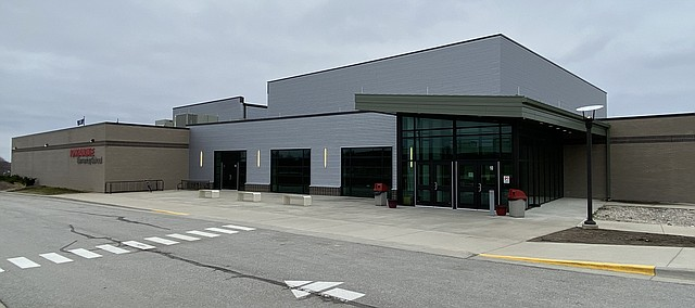 Anyone 18 and younger can visit the Tonganoxie Elementary School north entrance, pictured above, for free sack lunch and breakfast-to-go at lunchtime weekdays during the school closures due to the coronavirus pandemic.