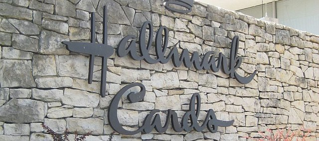 The Hallmark Cards sign at the company's Lawrence manufacturing plant, 101 McDonald Drive, is pictured in this file photo.