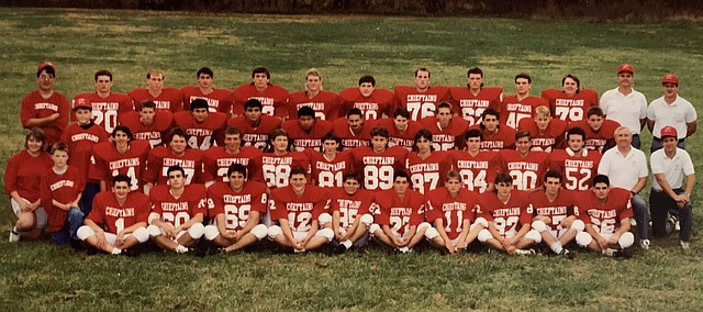The 1991 Tonganoxie High football team finished the season with a share of the Kaw Valley League title and an 8-2 overall record.