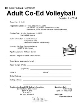 forms adult registration form