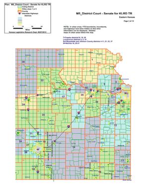 New State Senate Map For Eastern Kansas BasehorInfocom - Map of us senate districts in kansas