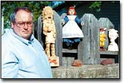 A collection of carved statues and figurines carved by Bixby grows each year.