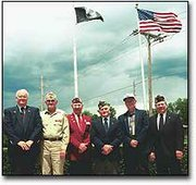 Members of the Basehor Veterans of Foreign War are hoping to recruit new members. The Basehor VFW has participated in numerous civic activities since its inception in 1993. VFW members shown from, left to right, are Jack Williams,Wilbur Grisham,Harry Kelley, Bob Wiley, John Searcy and Jerral Cooper.