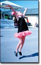 Dancers showed off fancy footwork during Saturday's events. The students attend Starstruck Studios for dancing lessons. Kayla Jackson is pictured during a Fourth Street performance.