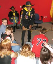 Lansing Middle school eighth-graders and IDEA students received a lesson in history Monday when members of the 9th and 10th Horse Cavalry Association - the Buffalo Soldiers - visited the school to talk about the all-black Army regiments. Four Buffalo Soldiers from the Greater Kansas City/Leavenworth chapter of the association participated in the program.