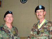Col. John Davoren, left, and Col. Lyn Smith